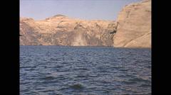 Vintage 16mm film, Lake Powell pan, 1965 Stock Footage