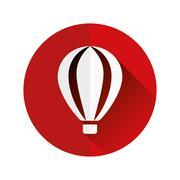 Hot-air balloon flat icon Piirros
