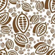 Cocoa seamless pattern Stock Illustration