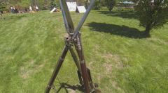 Stacked Civil War Guns in Soldier Camp Stock Footage