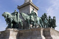 Hero's Square in Budapest Stock Photos