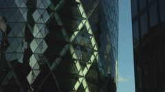 The Gherkin Building RT BCU low angle static 01 UHD Stock Footage