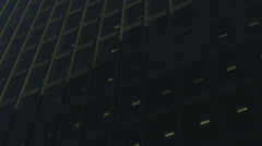 The Gherkin Building RT close low angle pan 02 UHD Stock Footage