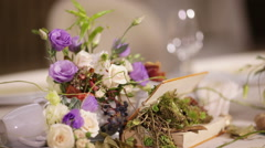 Details decoration with flowers Stock Footage