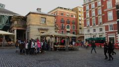 Panorama of Covent Garden in London Stock Footage