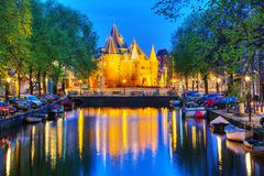 The Waag (Weigh house) in Amsterdam - stock photo