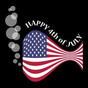USA flag as a fish with bubbles Stock Illustration