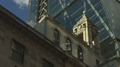 The Cheesegrater building tilt up UHD Stock Footage
