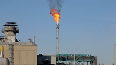 Oil torch, flambeau. combustion of associated gas. Stock Footage
