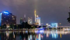 Frankfurt am Main Skyline from Schaumainkai - Hyperlapse - 4K UHD Stock Footage