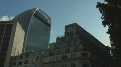 The Walkie-talkie building WS static UHD Stock Footage