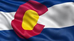 US state flag of Colorado - stock photo