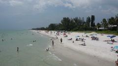 Sandy beach in Naples, Florida Stock Footage