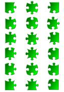 All possible shapes of jigsaw puzzle Stock Illustration