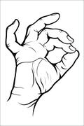 Hand gesture - Okay Stock Illustration