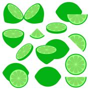 Lime icons Stock Illustration
