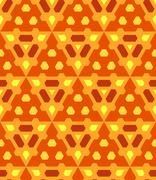 Orange yellow brown color abstract geometric seamless pattern. Stock Illustration