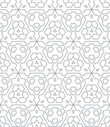 dark monochrome color triangle outline abstract geometric seamless pattern. - stock illustration