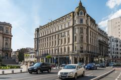 Rush Hour On Victory Avenue (Calea Victoriei) - stock photo
