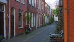 A little street of the center of Haarlem Stock Footage