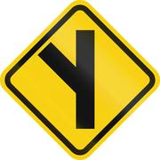 Intersection Ahead In Colombia Stock Illustration