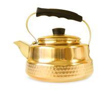 Copper teapot on white background Stock Photos