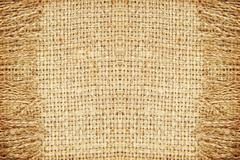 Linen texture pattern with fringe.Abstract background. - stock photo