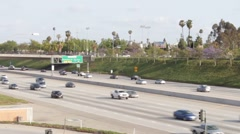 Aerial View 5 Freeway, California Stock Footage