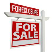 Foreclosure Home For Sale Real Estate Sign Kuvituskuvat