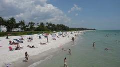 Sandy beach in Naples Florida Stock Footage