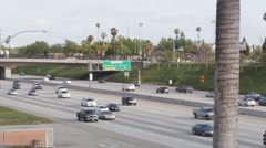 Aerial View of 5 Freeway, California Stock Footage