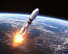 Heavy Carrier Rocket Launch - stock photo