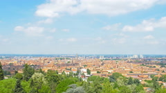 Bologna skyline pan 4k Stock Footage