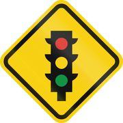 Traffic Lights In Columbia Stock Illustration