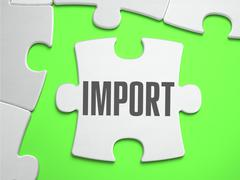 Import - Jigsaw Puzzle with Missing Pieces Stock Illustration