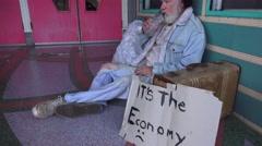 Homeless, settling in Stock Footage