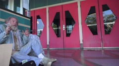 Homeless, Movie house box office Stock Footage