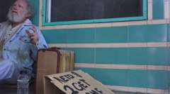 Homeless, needy Stock Footage