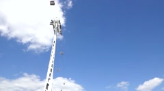 Cable car Sky London Stock Footage