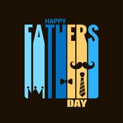 Stock Illustration of fathers day holiday design background