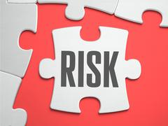 Risk - Puzzle on the Place of Missing Pieces Stock Illustration