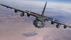 c130 spectre animation - stock footage