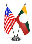 USA and Shan State - Miniature Flags Stock Illustration