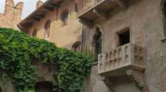 Romeo juliet home balcony Stock Footage