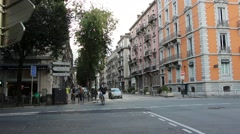 View on the streets of Grenoble France 4 Stock Footage
