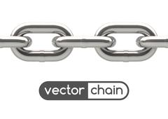 Stock Illustration of Seamless oval link chain
