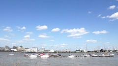 River thames Greenwich Stock Footage