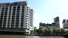 south dock canary wharf - stock footage