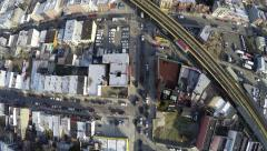 4k Aerial Fly-Over of Williamsburg, Brooklyn, NY Stock Footage