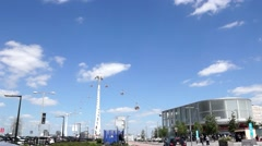 Cable car  Emirates Greenwich Peninsula London Stock Footage